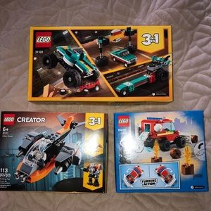 3 Brand New unopened Lego Sets Cyber Drone, Truck,